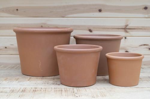 Terra Cotta Heavy Rim Cylinder Pot