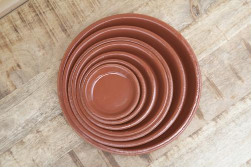 Terra Cotta Glazed Saucer