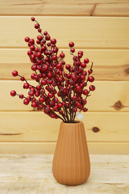 """21"""" Vineyard Berry Cluster Red (Faux)"""