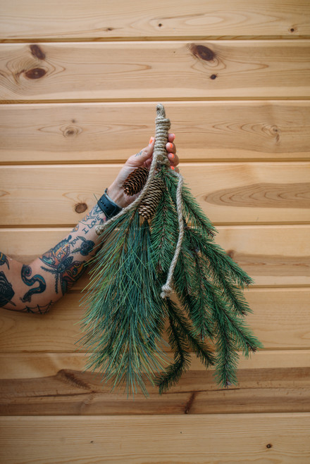 "20"" Pine Drop Swag (Faux)"