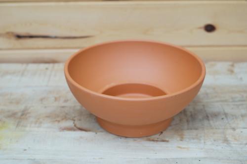 "10.5"" Terra Cotta Low Bowl"