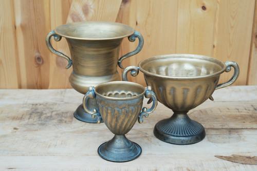 Antique Trophy Brass Urn