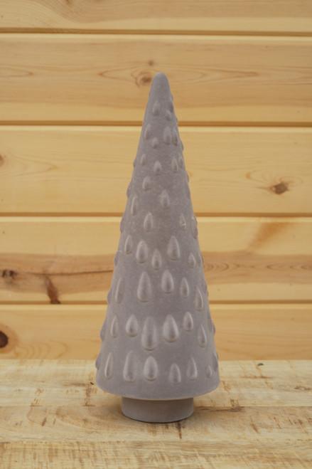 "12.25"" Flocked Tree in Grey"