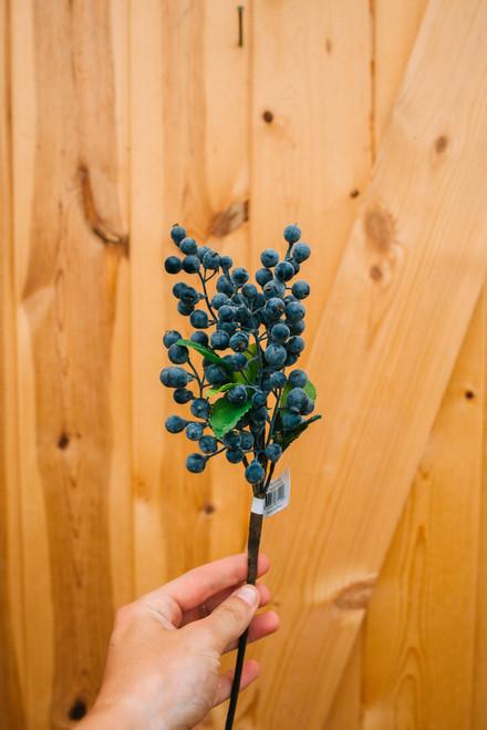 "14"" Berry Pick Blue (Faux)"