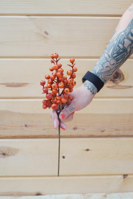 """12"""" Cranberry Pick Orange (Faux)"""