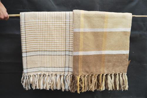 """60""""x50"""" Cotton Plaid Throw Blanket"""