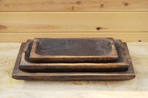 Carved Paulownia Tray