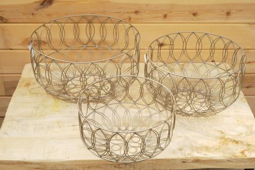Metal Art Deco Basket