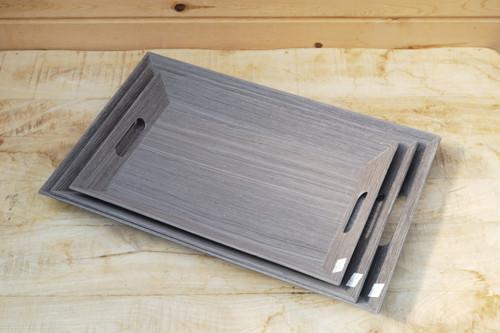 Grey Wood Grain Tray
