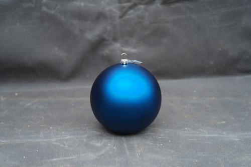 120mm Matte Blue Shatterproof Ornament