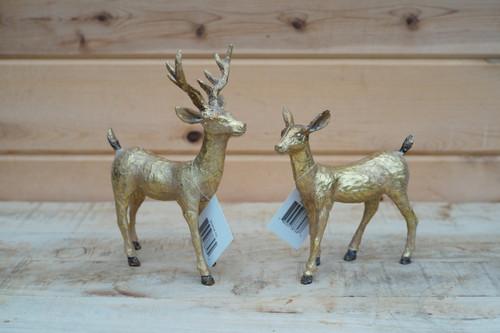 Small Standing Deer in Gold