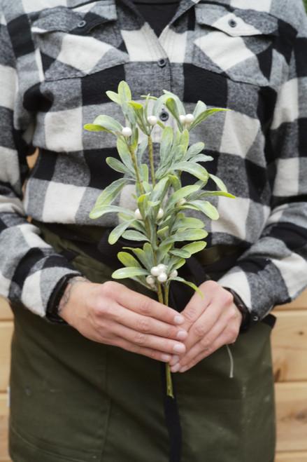 """12"""" Pearl Mistletoe Bundle (Faux)"""