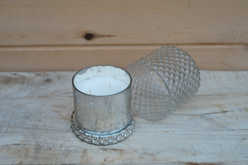 """4.5"""" Candle in Decorative Glass"""