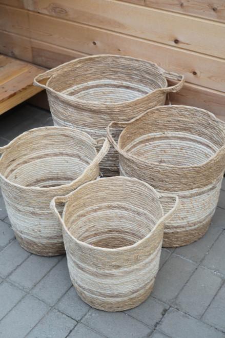 Natural Stripe Basket