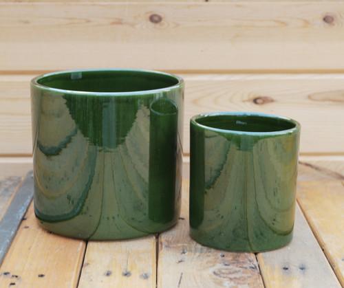 Green Romeo Cylinder Pot