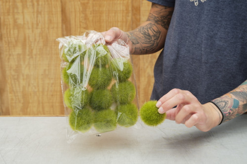 Bag of Fuzzy Moss Balls (Faux)