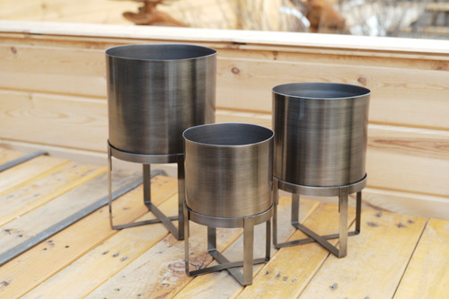 Pewter Planter with Stand