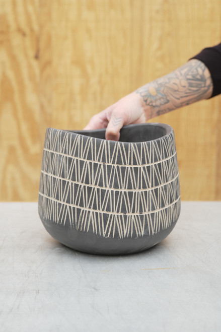 Etched Lines Planter
