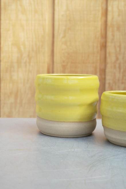 Sandwich Wave Planter in Yellow