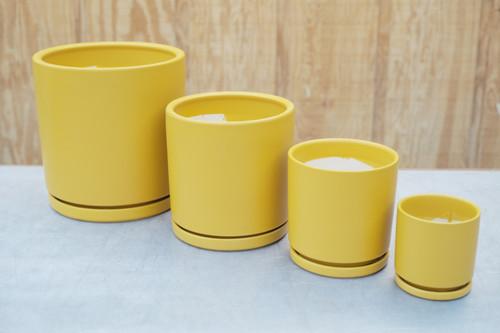 Gemstone Cylinder in Mustard