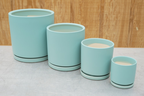 Gemstone Cylinder in Sea Glass