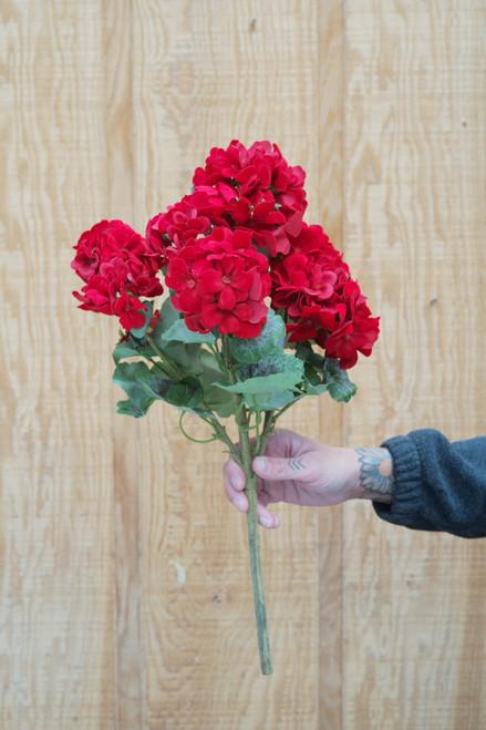 """18"""" Geranium Bush in Red (Faux)"""