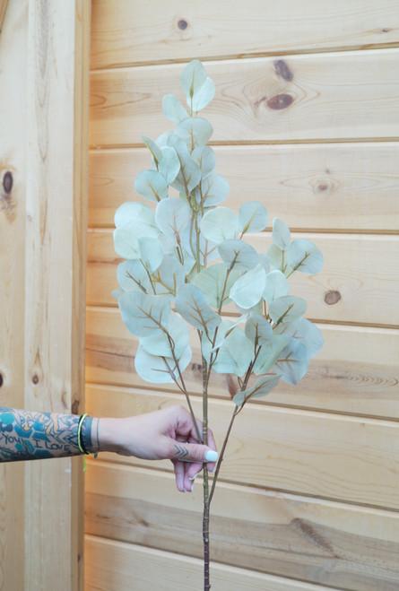 """34"""" Silver Dollar Eucalyptus Spray (Faux)"""