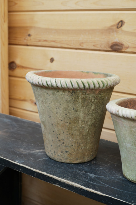 Large Aged Mecate Planter