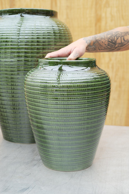 Bergs Small Willow Vase in Green