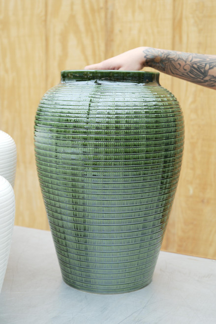 Bergs Large Willow Vase in Green