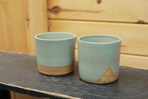 """4"""" Buttermilk Green Pot"""