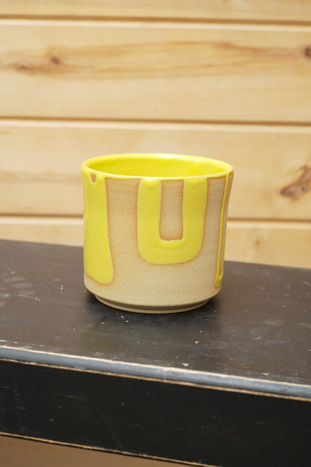Sandwich Column Accented Planter in Yellow