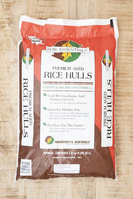 Soil essentials rice hulls