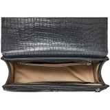 Oroton Forte Slim Clutch in Charcoal and Croc Effect Leather for female