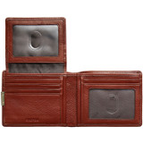 Oroton Austere 12 Credit Card Wallet in Chocolate and Chocolate Leather for male