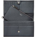 Oroton Avalon Clutch Wallet And Pouch in Charcoal and Pebble Leather for female