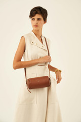 Oroton Margot Drum Bag in Whiskey and Pebble Leather for female