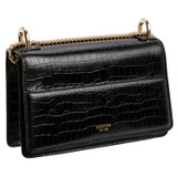 Oroton Forte Micro Clutch in Black and Croc Emboss Leather for female