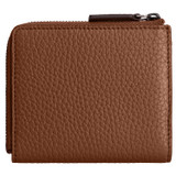 Oroton Duke Side Zip Wallet in Whiskey and Pebble Leather for male
