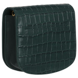 Oroton Sylvie Texture Chain Wallet in Dark Liquorice Texture and Croc Emboss Leather/Smooth Leather for female