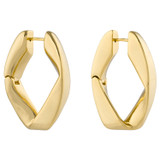 Oroton Aubrey Large Earrings in Gold and Brass Base Metal With Precious Metal Plating for female