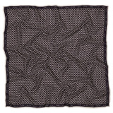 Oroton Large All Over Logo Scarf in Black and 100% Silk for female