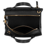 Oroton Lucy Mini Tote Crossbody in Black and Pebble Leather for female