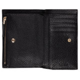 Oroton Lucy 12 Credit Card Zip Wallet in Black and Pebble Leather for female