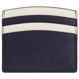 Oroton Atlas Credit Card Sleeve in Midnight Blue and Pebble Leather for female
