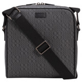 Oroton Harry Signet Zip Around A5 Satchel in Charcoal and Printed Saffiano PVC/ Smooth Leather Trims for male