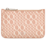Oroton Harriet Signature Credit Card Holder in Biscuit and Printed Saffiano PVC/Saffiano Leather for female