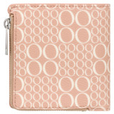 Oroton Harriet Signature Mini Wallet in Biscuit and Printed Saffiano PVC/Saffiano Leather for female