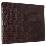 """Oroton Muse Texture 15"""" Laptop Sleeve in Walnut Texture and Croc Effect Leather for female"""