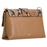 Oroton Frida Texture Medium Satchel in Dark Rye and Italian Snake Emboss Leather/ Smooth Leather for female